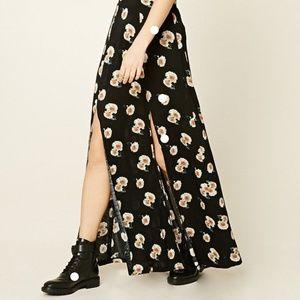5 for $25 SALE! Forever 21 Floral Spilt Maxi Skirt